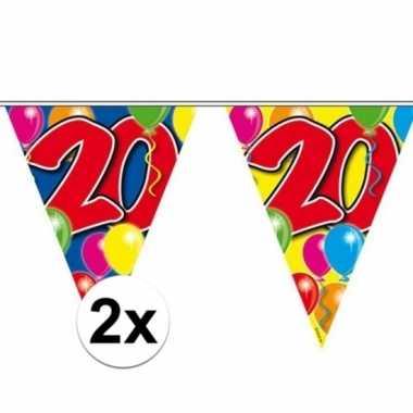2x vlaggenlijn 20 jaar 10 meter