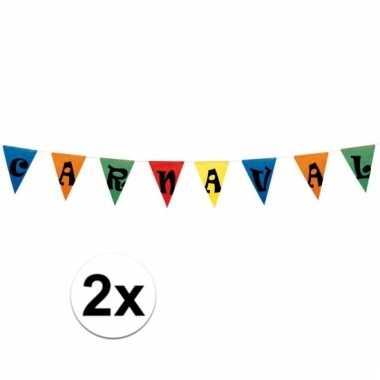 2x vlaggenlijn carnaval 10 meter