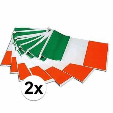 2x vlaggenlijn ierse vlag 7 meter