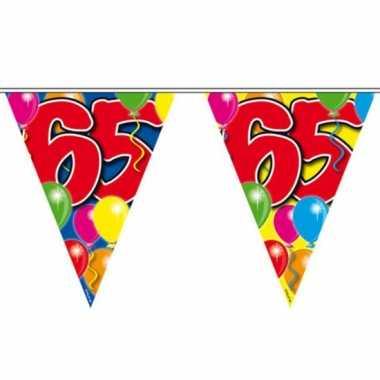 2x vlaggenlijnen 65 jaar feestartikelen van 10 meter