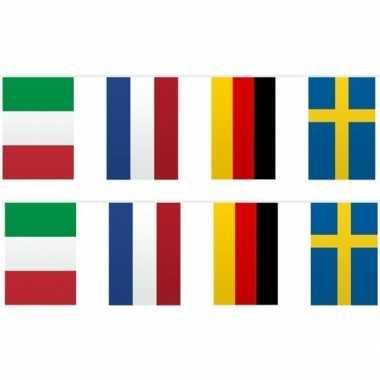 2x vlaggetjeslijn europa 10 meter
