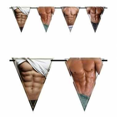 2x vrijgezellenfeest vlaggenlijnen torso