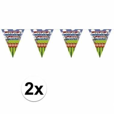 2x welkom thuis thema vlaggenlijnenen van 6 meter