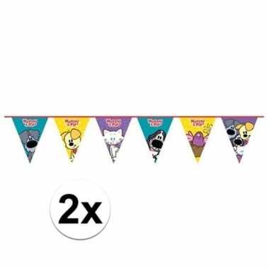 2x woezel en pip verjaardag vlaggenlijn 4 meter