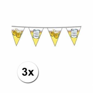 3 bier vlaggenlijnen 10 meter per stuk