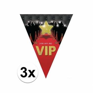 3 stuks hollywood thema slingers vip 5 meter