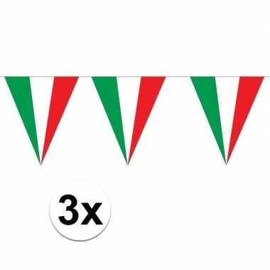 3 stuks puntvlaggetjes italie 5 meter