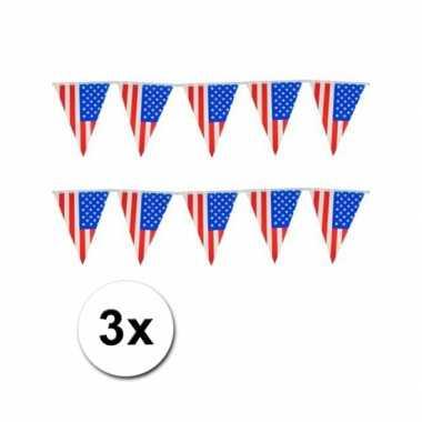 3 USA vlaggenlijnen
