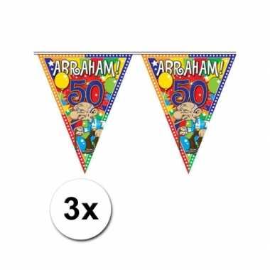 3x Abraham vlaggenlijn van 10 meter