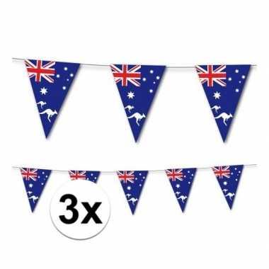 3x australische vlaggenlijn 3,5 meter
