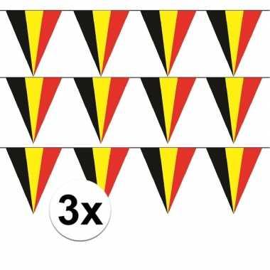 3x belgische vlaggenlijn / slinger 5 meter