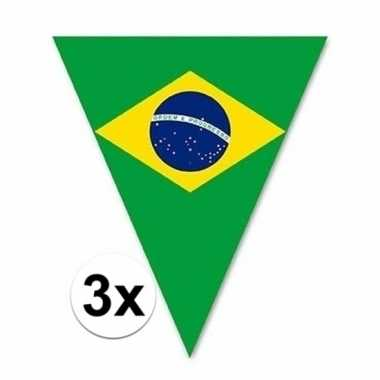 3x braziliaanse decoratie vlaggenlijnen