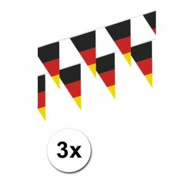 3x Duitse buiten vlaggetjes