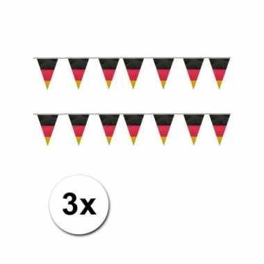 3x Duitsland vlaggen slinger 10 meter