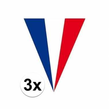 3x franse vlaggenlijnen 5 meter