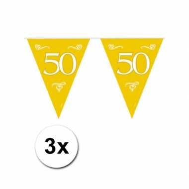 3x Gouden vlaggenlijn 50e jubileum