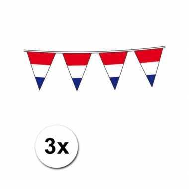 3x Holland vlaggenlijn 10m