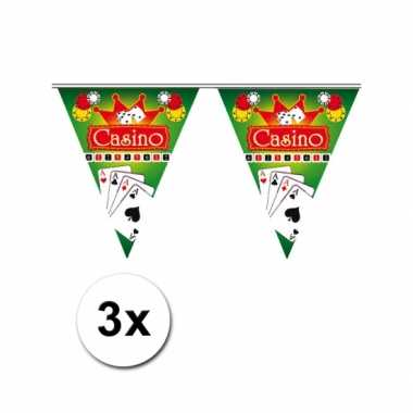 3x Hollywood thema vlaggenlijn Casino