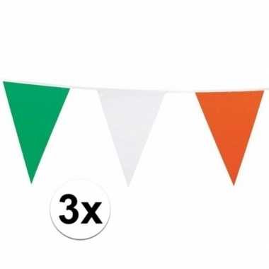 3x ierland vlaggenlijnen nylon 7 m