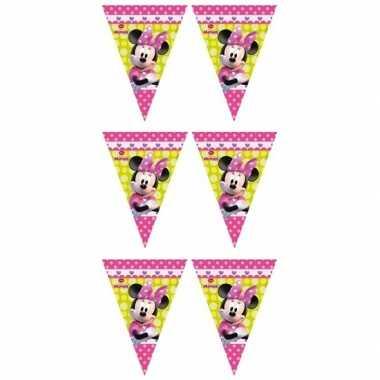 3x minnie mouse vlaggenlijnen 280 cm kinderverjaardag