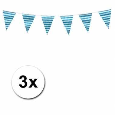 3x Oktoberfest vlaggenlijn 10 meter
