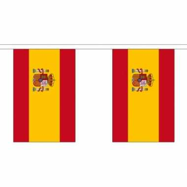 3x polyester vlaggenlijn van spanje 3 meter