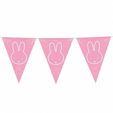 3x roze nijntje meisje geboren slingers van 6 meter