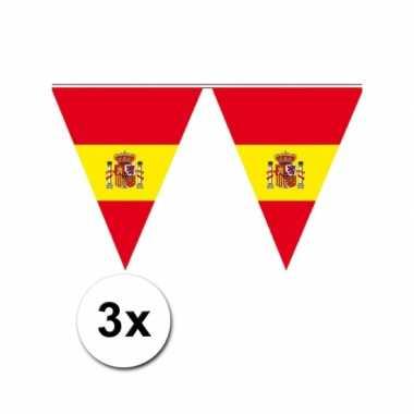 3x Spaanse vlaggenlijnen