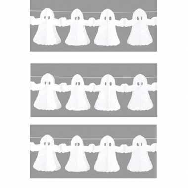 3x spook slinger van papier 4 meter