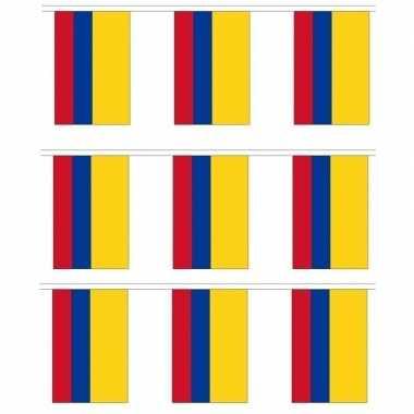 3x stoffen vlaggenlijn colombia 3 meter