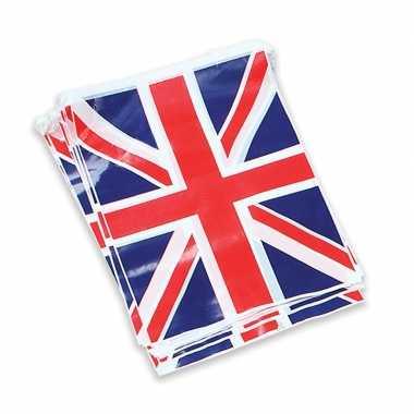 3x stuks groot brittannie vlag vlaggenlijnen slingers 7 meter