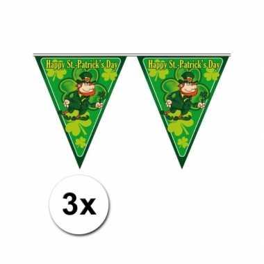 3x Themafeest vlaggenlijn St. Patricks Day