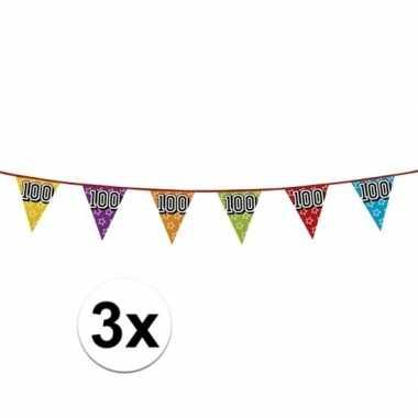 3x vlaggenlijn 100 jaar feestje