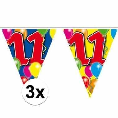 3x vlaggenlijn 11 jaar 10 meter