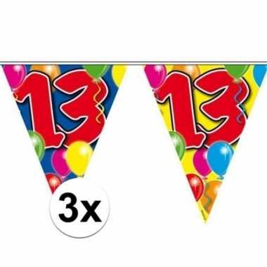 3x vlaggenlijn 13 jaar 10 meter