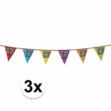 3x vlaggenlijn 17 jaar feestje