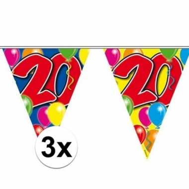3x vlaggenlijn 20 jaar 10 meter