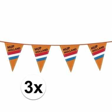 3x vlaggenlijn 40m hup nederland