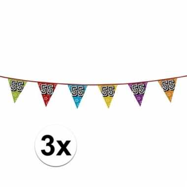 3x vlaggenlijn 55 jaar feestje