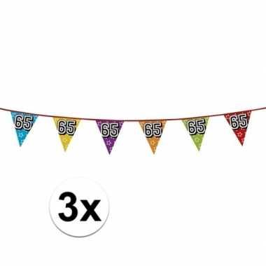 3x vlaggenlijn 65 jaar feestje
