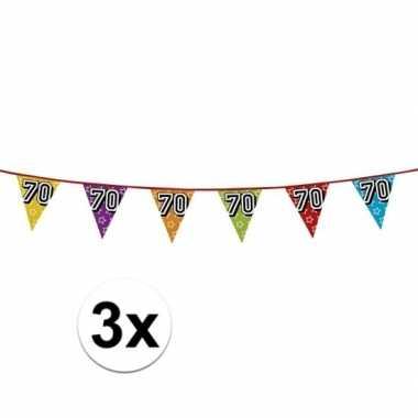 3x vlaggenlijn 70 jaar feestje