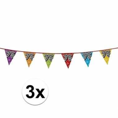 3x vlaggenlijn 75 jaar feestje