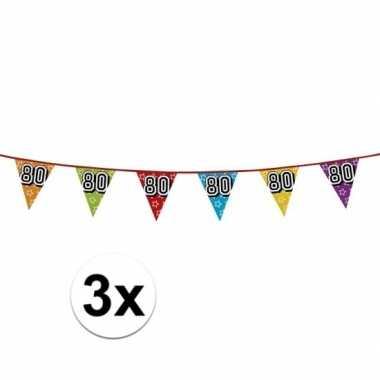 3x vlaggenlijn 80 jaar feestje