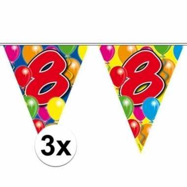 3x vlaggenlijnen 8 jaar van 10 meter