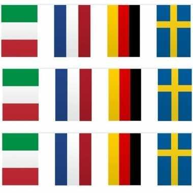 3x vlaggetjeslijn europa 10 meter