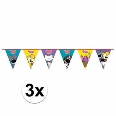 3x woezel en pip verjaardag vlaggenlijn 4 meter
