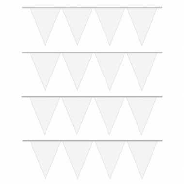 4x carnaval vlaggenlijn wit 10 meter