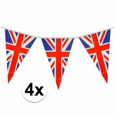 4x engeland vlaggetjes 7 meter
