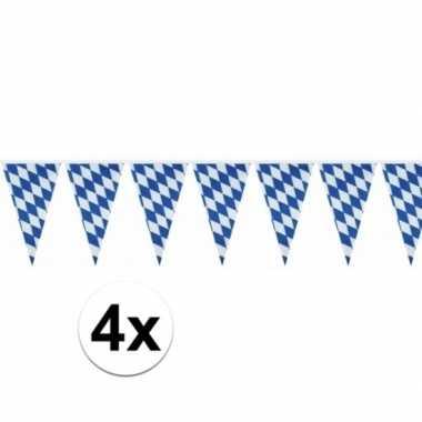 4x oktoberfest vlaggenlijn 10 meter