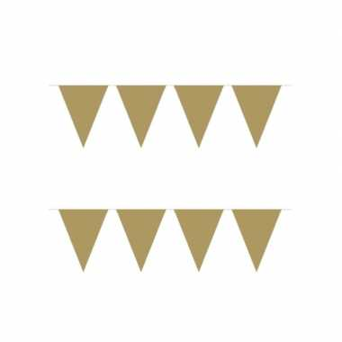 4x stuks vlaggenlijn kleur goud 10 meter
